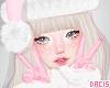 d. xmas pink gloves