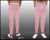 D- Hip W Belt Pink Pants