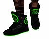 Black/Green Sneaks