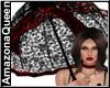 Victorian Black Umbrella