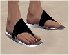BLack wht Beach Sandals