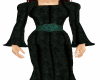 green medieval gown