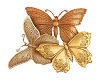 Gold Butterfly Trio