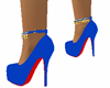 Blue Heels Red Bottoms