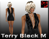 Terry Mini Black Dress M