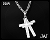 ♕ Double Cross Silver