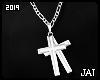 ♕ Double Cross Silver