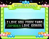 I love you, zombie badge