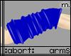 :a: Blue PVC Armwarmer M