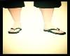 Black & Blue Flip Flops