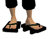 Black Geta Bare Feet