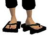 Black Geta Bare Feet