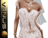 ~V~Sheer Wedding Gown