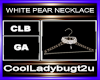 WHITE PEAR NECKLACE