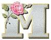 M - letter sticker