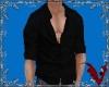 *V* Open Shirt Black