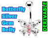 Belly Silver Butterfly