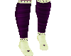 green purple socks