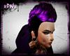 Purple/ Black faux hawk