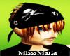 black hat & brown hair