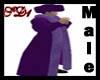 SD Fur Coat Purple Male