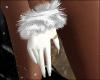 White Winter Fur Gloves