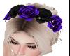 ~Y~ Blu & Blk Rose Crown