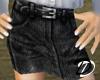 Belted Jean skirt (blk)