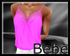 Pink Camisole with Lace