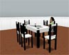Black/White Dinning Tabl