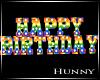 H. Rainbow Happy Bday