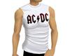 ! White ACDC Mens Tank
