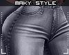 Ms~Grey Jeans L