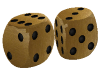 Kissing Gold Dice