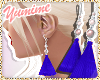 [Y] Blue Tassel Earrings