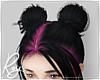 Candy Pink Goth Buns