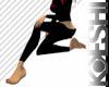 Black simple leggings