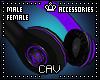 Purple Headphones M/F