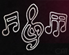 Living  Neon Music Notes