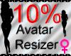 *M* Avatar Scaler 10%