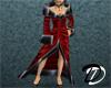 Velvet Robe Dress (red)