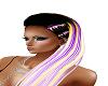 purple yelow hair long