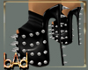 Black Spiked Leather