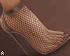 ! Fishnet Toffee Heels