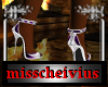 purple white heels