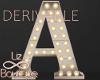 Luminous letter A| lamp