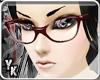 [YK] Retro glasses red