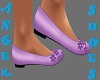 light purple flat shoes