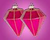 Pink Gem Bauble Earrings