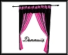 Black and Pink Curtains